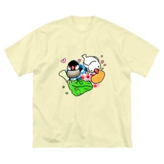 もぐもぐ文鳥ず② Big Silhouette T-Shirt