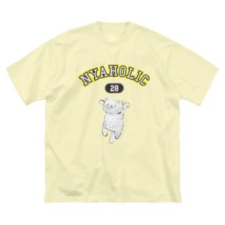にゃっほり Big silhouette T-shirts