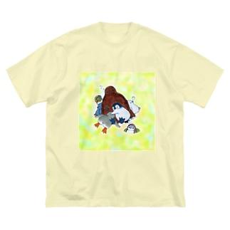 まどろみヒナーズ Big silhouette T-shirts