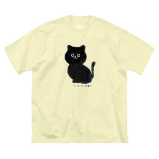 黒ねこクロワ Big silhouette T-shirts