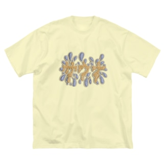 サウナ Big silhouette T-shirts