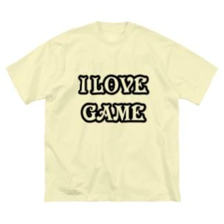 ゲーム好きです Big silhouette T-shirts
