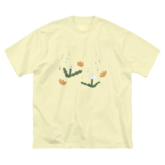 タンポポ Big silhouette T-shirts