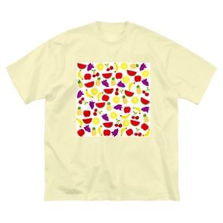 あの子のフルーツ柄 Big silhouette T-shirts