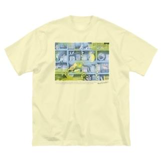 森の本棚(水色レモン) Big Silhouette T-Shirt