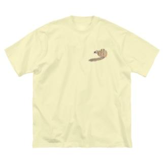 シマリス後ろ姿 Big silhouette T-shirts