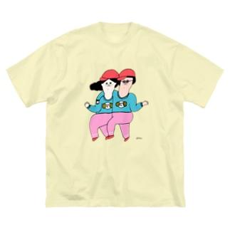 Claraのおみせのペアルックデー Big silhouette T-shirts