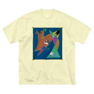 猫かわいい Big silhouette T-shirts