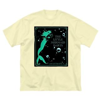 アクアダーツ -人魚姫- Big silhouette T-shirts