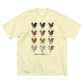 いろんなキタリス Big silhouette T-shirts