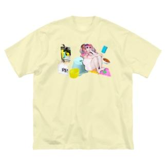サウナースペシャル Big silhouette T-shirts