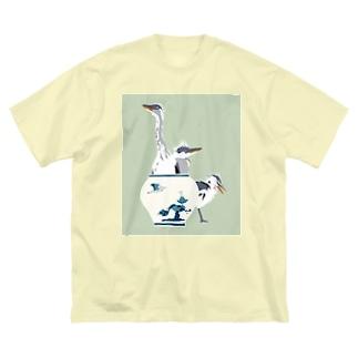 アオサギの雛たち Big T-shirts