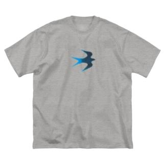 青い鳥 Big silhouette T-shirts