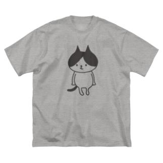 ハチワレキャット Big silhouette T-shirts