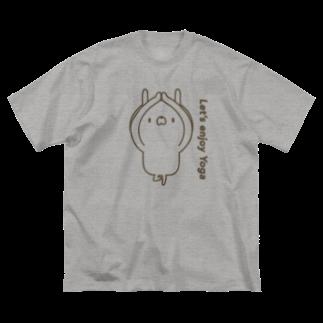 ユウィズのヨガうさぎ1 Big silhouette T-shirts
