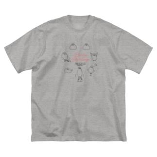 文鳥七変化・黒線イラスト Big Silhouette T-Shirt