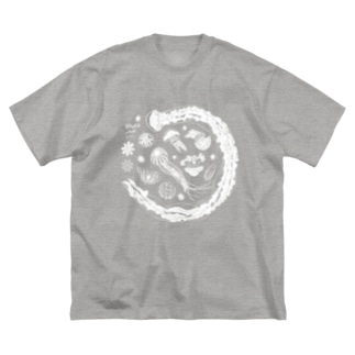 Jellyfish planet(クラゲの惑星) Big silhouette T-shirts