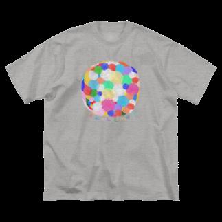 むきむき   地球生活のハナタバ Big silhouette T-shirts
