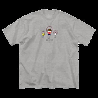 つっこみ処のばっどたいみんぐ Big silhouette T-shirts