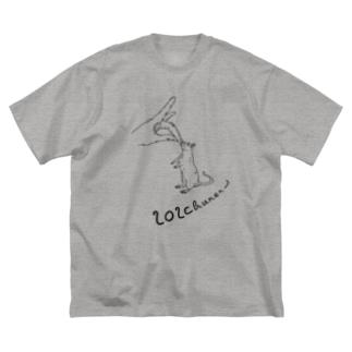 ニセンニチュウネン Big silhouette T-shirts