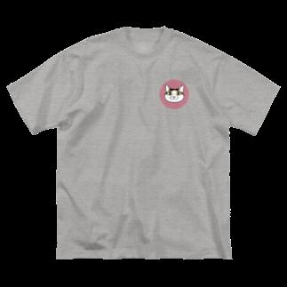 真希ナルセ(マキナル)のキジトラシロネコ Big silhouette T-shirts