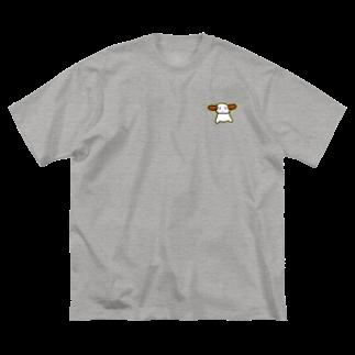 おこじょ。のお店のキリッとうさぎさん Big silhouette T-shirts