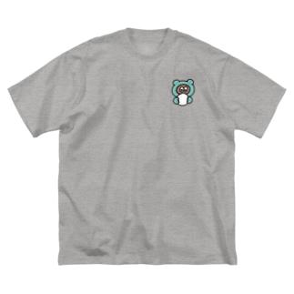 おまんじゅう Big silhouette T-shirts