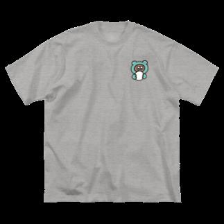 たぬきゅんショップのおまんじゅう Big silhouette T-shirts