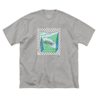 wave01 Big silhouette T-shirts