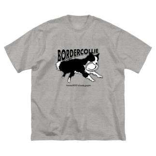 ボーダーコリー フリスビー Big silhouette T-shirts