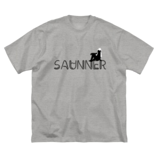 SAUNNER_WHITE Big silhouette T-shirts
