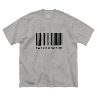 a fictional barcode Big silhouette T-shirts