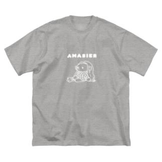 アマビエ様(白線ver) Big silhouette T-shirts