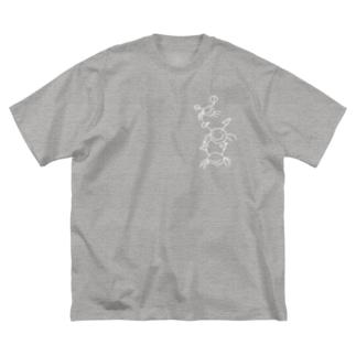 カニ Big silhouette T-shirts