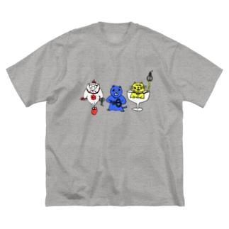口琴トリオ Big silhouette T-shirts