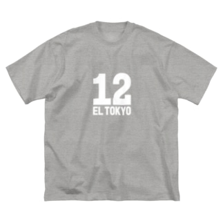 EL TOKYO(白) Big silhouette T-shirts