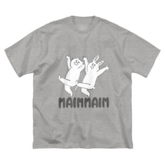 にゃにゃんとみみ子 Big silhouette T-shirts