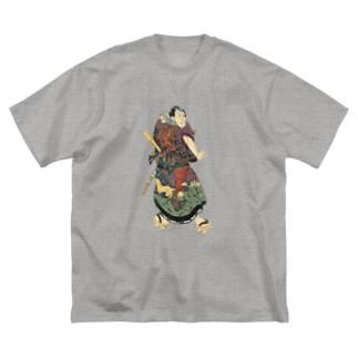 浮世絵 Big silhouette T-shirts