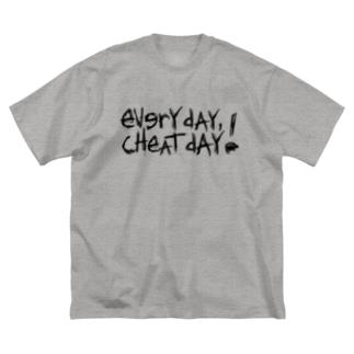 毎日がチートデイ! Big silhouette T-shirts
