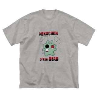 ゾンビネコちゃん Big silhouette T-shirts