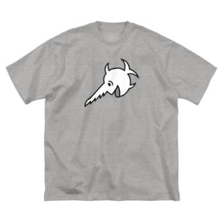 stereovisionの笑うノコギリザメ Big silhouette T-shirts