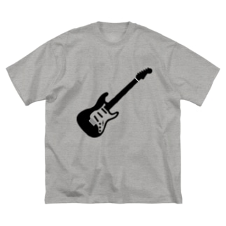 musicshop BOBのギタァ - GUITAR Big silhouette T-shirts