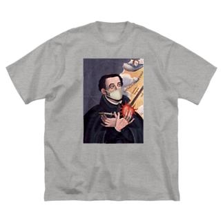 マスク ザビエル Big silhouette T-shirts