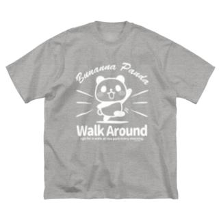 ぶなんなパンダ・散歩W Big silhouette T-shirts
