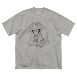 【ゆる偉人】ナポレオンさん Big silhouette T-shirts