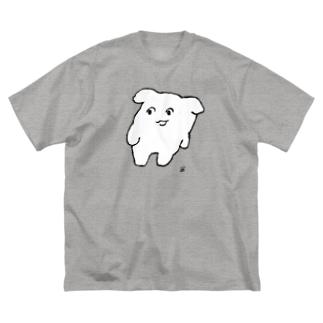 にくまん子のよよ(しろ) Big silhouette T-shirts