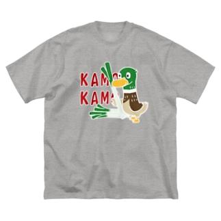 CT158 鴨カモ カモかも*B Big silhouette T-shirts