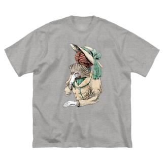 脳婦人 Big silhouette T-shirts