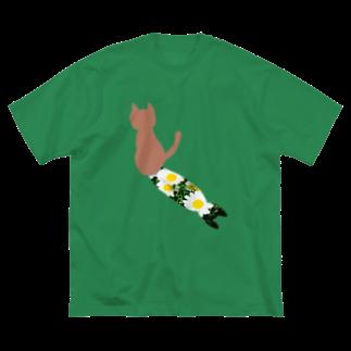 ちるまの店の猫と影2 Big silhouette T-shirts