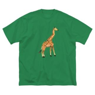 LONELY GIRAFFE Big silhouette T-shirts